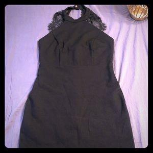 🌵Lulu's black halter top dress
